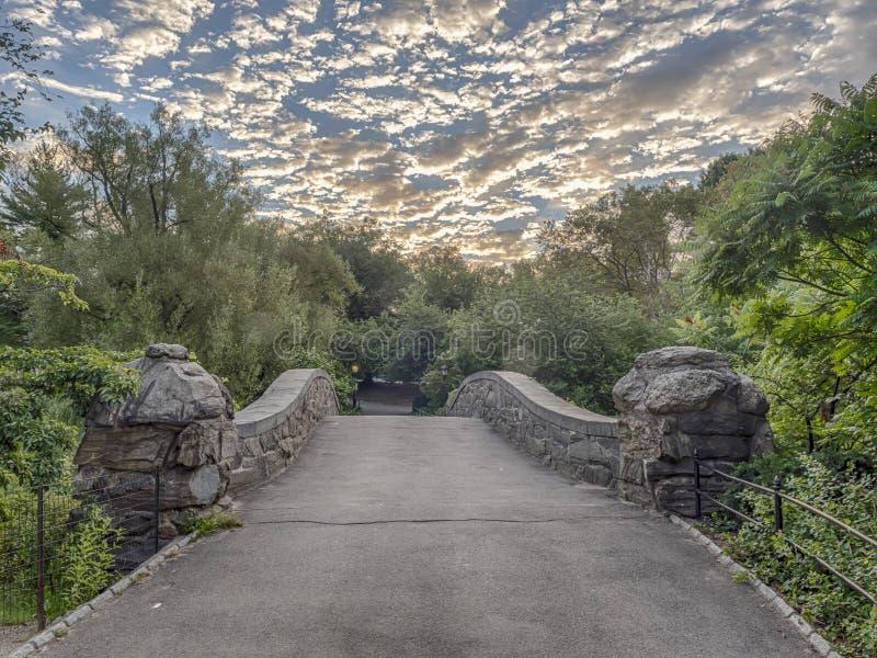 Puente Central Park, New York City de Gapstow foto de archivo libre de regalías