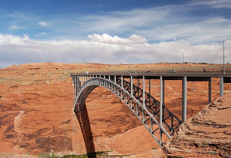 Puente cerca de la presa de la barranca de la cañada imágenes de archivo libres de regalías