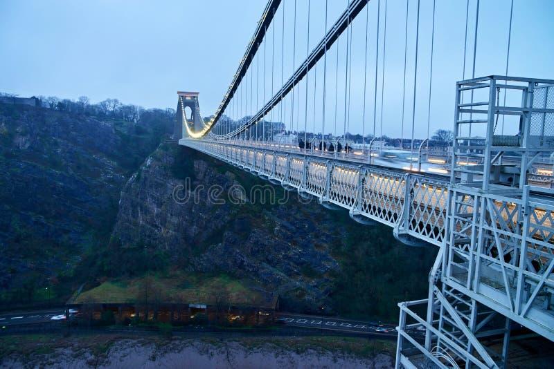 Puente colgante de Bristol Clifton fotografía de archivo