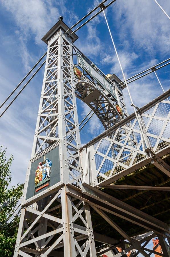 Puente colgante del parque del Queens en Chester fotos de archivo