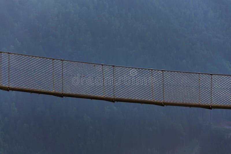 Puente colgante en rastro alpino a través de la garganta del infierno, Schladming, Austria imágenes de archivo libres de regalías