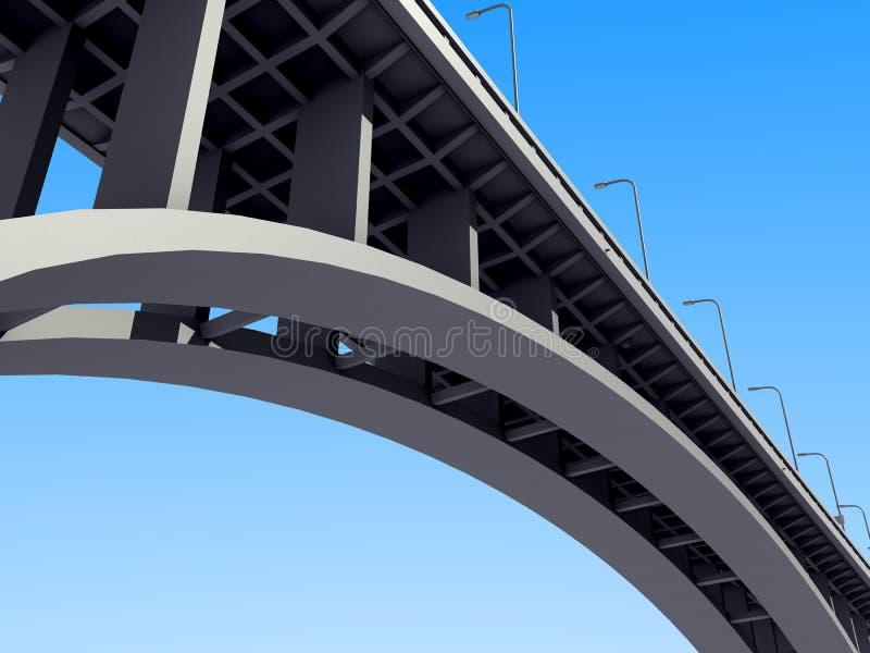 Puente concreto del arco stock de ilustración