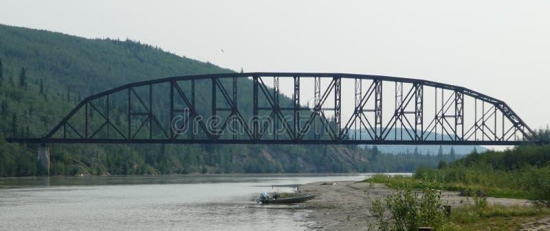 Puente conmemorativo de Mears en Nenana en Alaska RR foto de archivo