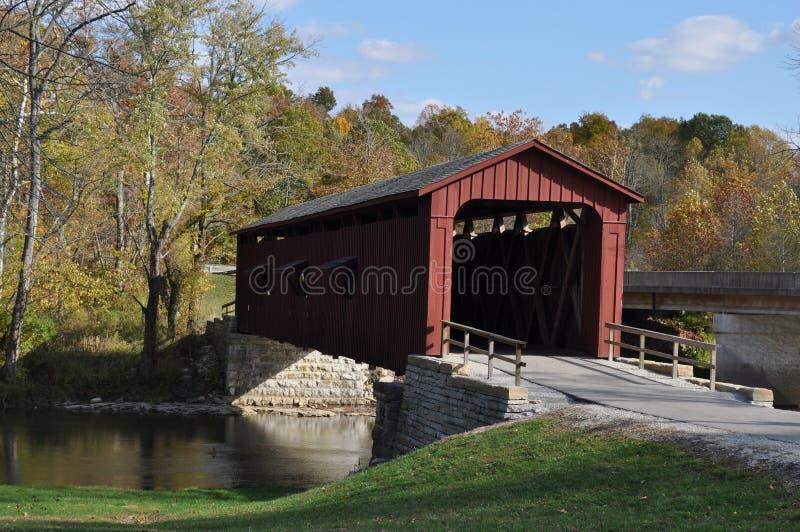 Puente cubierto americano foto de archivo libre de regalías