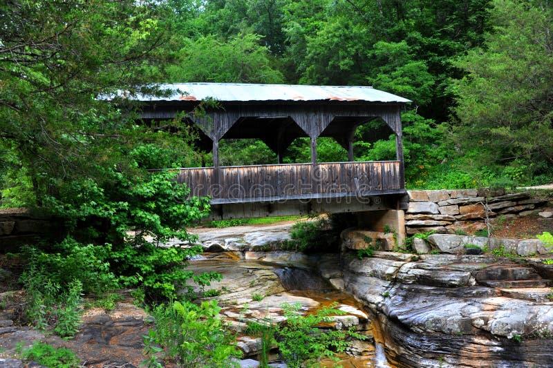 Puente cubierto de Arkansas fotografía de archivo
