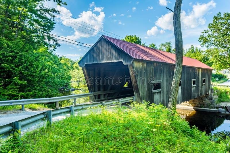 Puente cubierto de Dalton fotografía de archivo libre de regalías