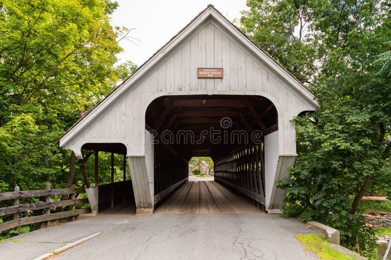 Puente cubierto de Woodstock foto de archivo
