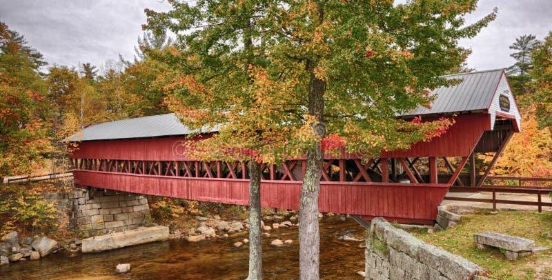 Puente cubierto del río rápido imagen de archivo libre de regalías
