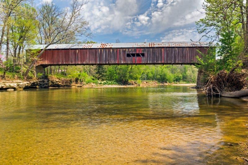 puente cubierto del vado de $cox imagen de archivo