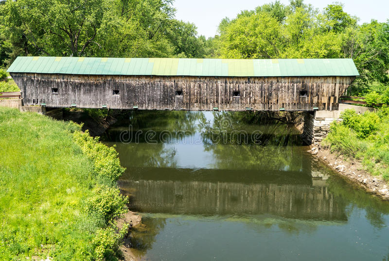 Puente cubierto Vermont de Hammond fotos de archivo libres de regalías