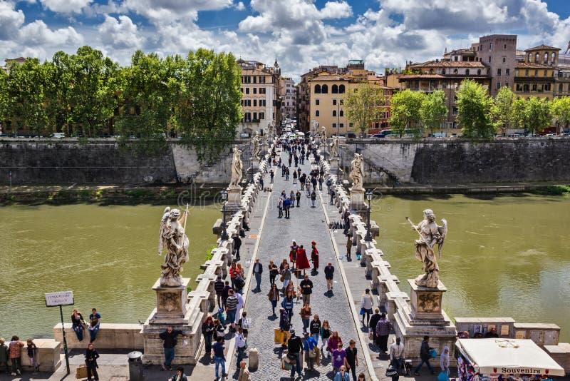 Puente de Ángel del santo en Roma Italia foto de archivo libre de regalías