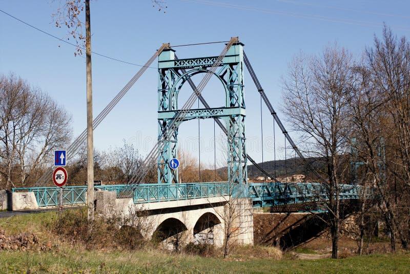 Puente de acero en Francia meridional foto de archivo
