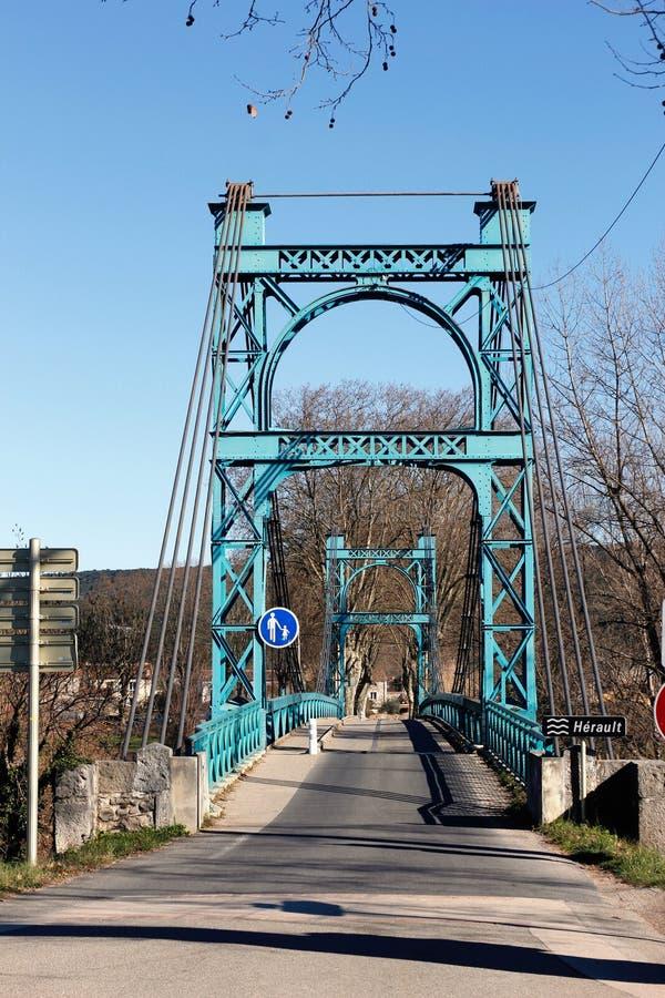 Puente de acero en Francia meridional imagen de archivo libre de regalías