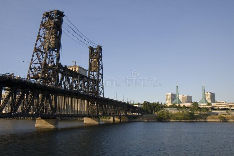 Puente de acero Portland Oregon de la calle foto de archivo