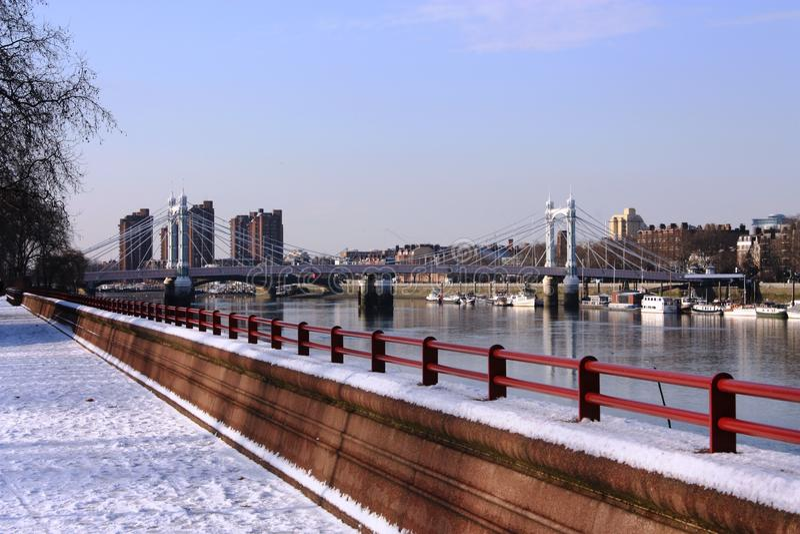 Puente de Albert foto de archivo libre de regalías