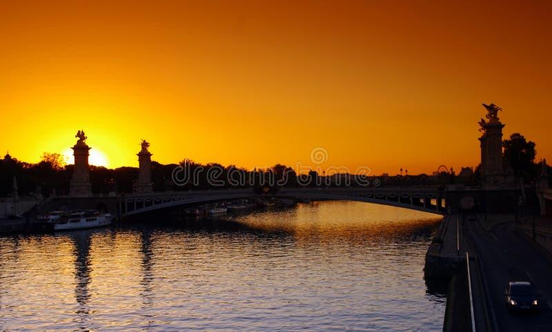 Puente de Alejandro 3 en París fotografía de archivo libre de regalías