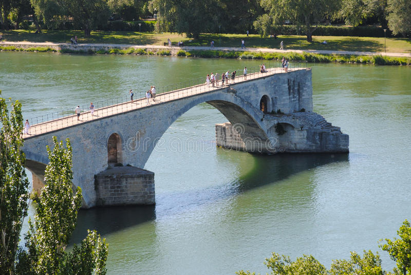 Puente de Aviñón fotografía de archivo libre de regalías