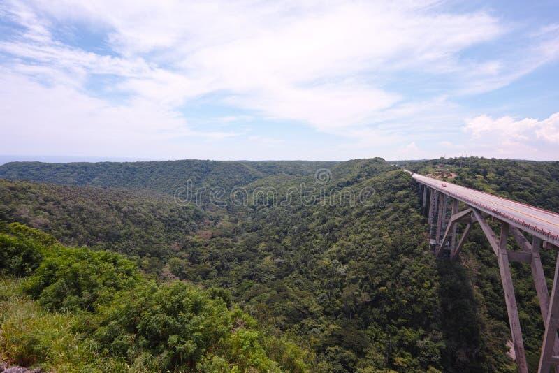 Puente de Bacunayagua stockbild