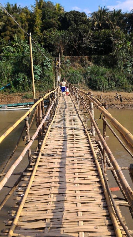 Puente de bambú imagen de archivo