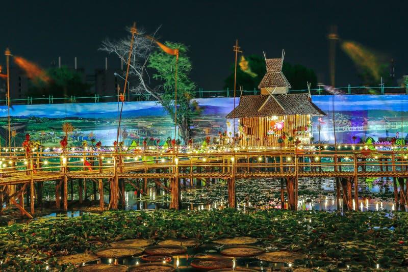 Puente de bambú, Rangsit fotografía de archivo