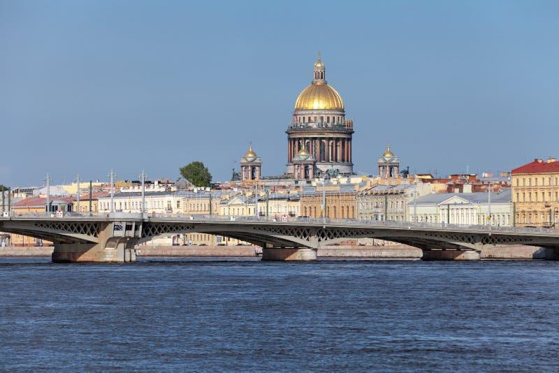 Puente de Blagoveshchensky imágenes de archivo libres de regalías