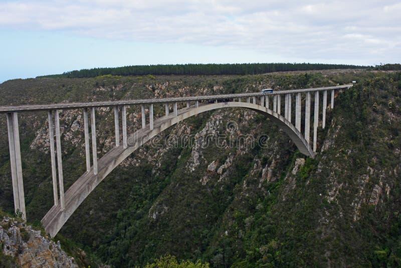 Puente de Bloukrans, valle del ` s de la naturaleza, Western Cape, Suráfrica fotografía de archivo