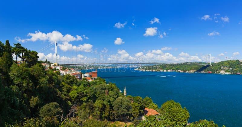 Puente de Bosphorus en Estambul Turquía fotografía de archivo libre de regalías