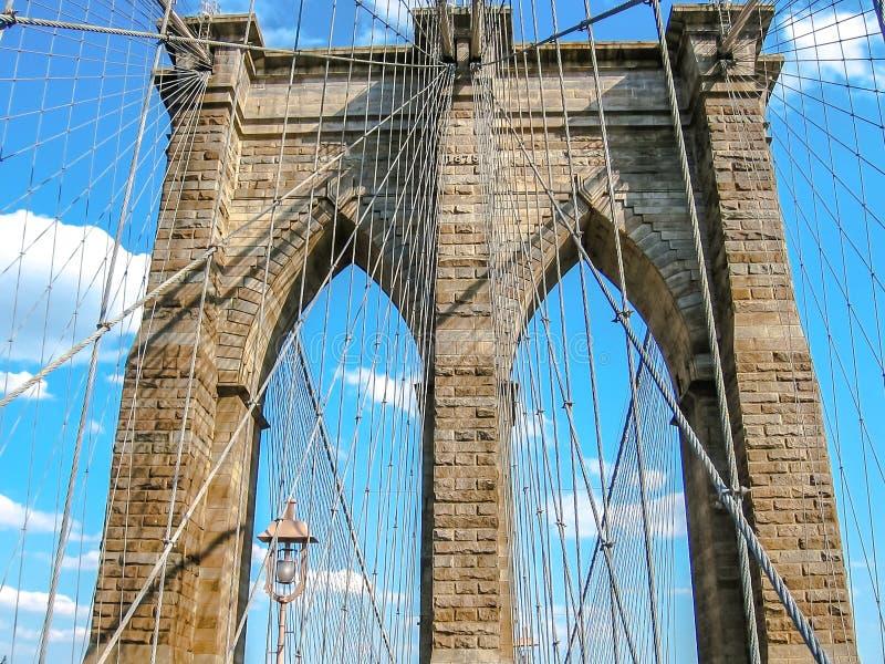 Puente de Brooklyn en la puesta del sol fotos de archivo libres de regalías