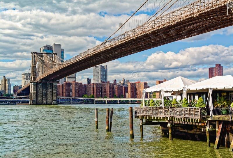 Puente de Brooklyn, New York City, los E imagen de archivo libre de regalías