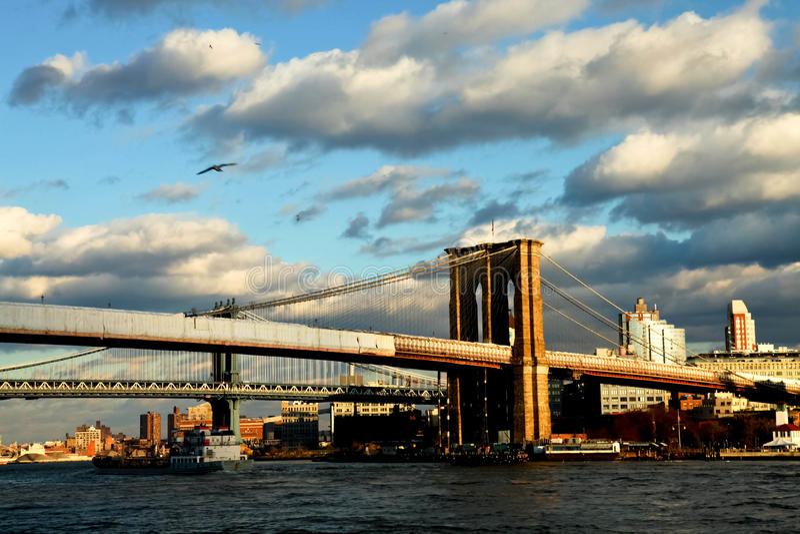 Puente de Brooklyn Nueva York foto de archivo