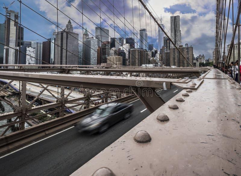 Puente de Brooklyn, Brooklyn, Nueva York, los E.E.U.U. 14 de octubre de 2018 foto de archivo libre de regalías