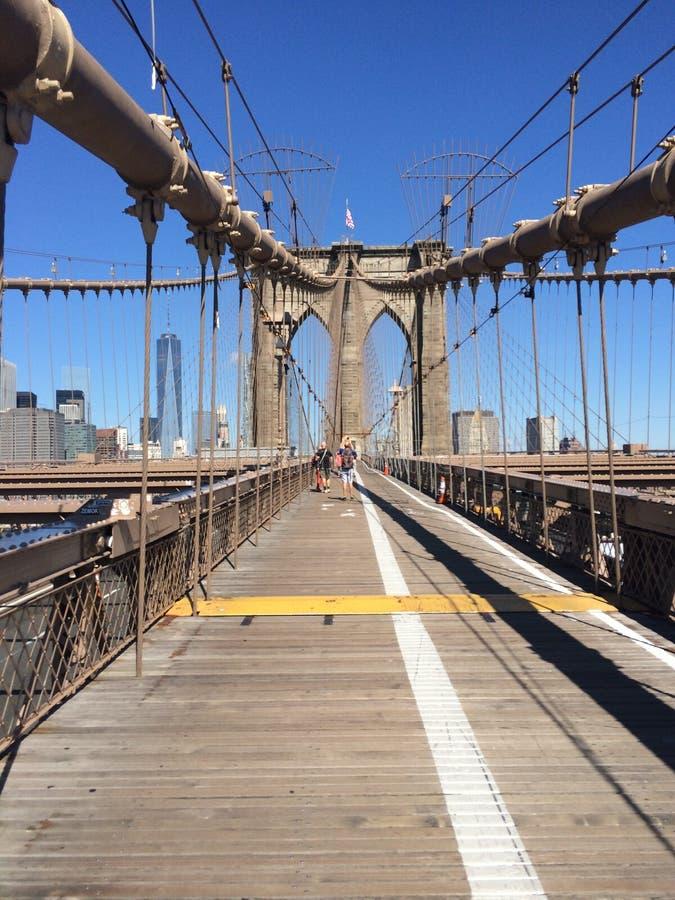 Puente de Brooklyn, NY fotos de archivo