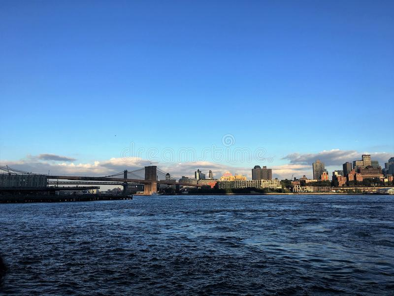 Puente de Brooklyn, NY foto de archivo