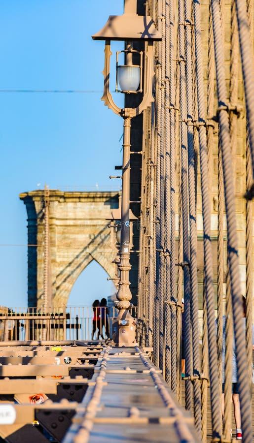 Puente de Brooklyn de otra perspectiva, Nueva York, los E.E.U.U. foto de archivo