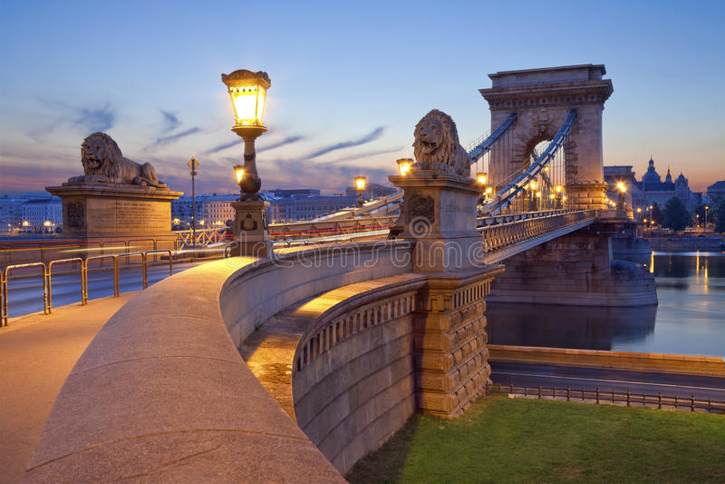 Puente de cadena, Budapest. imagenes de archivo