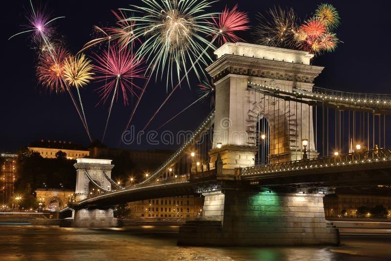 Puente de cadena - Budapest - Hungría fotografía de archivo