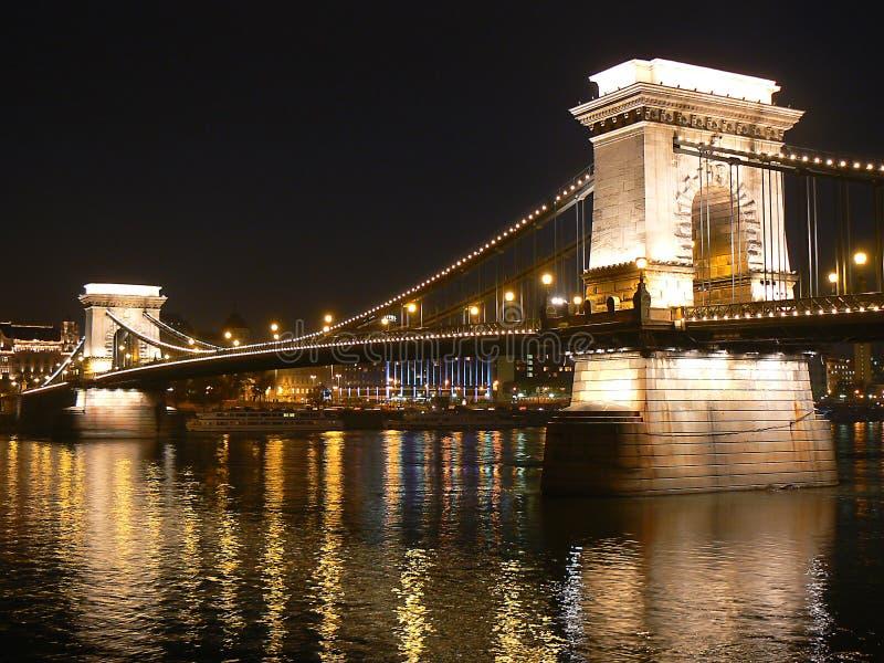 Puente de cadena Budapest I. foto de archivo