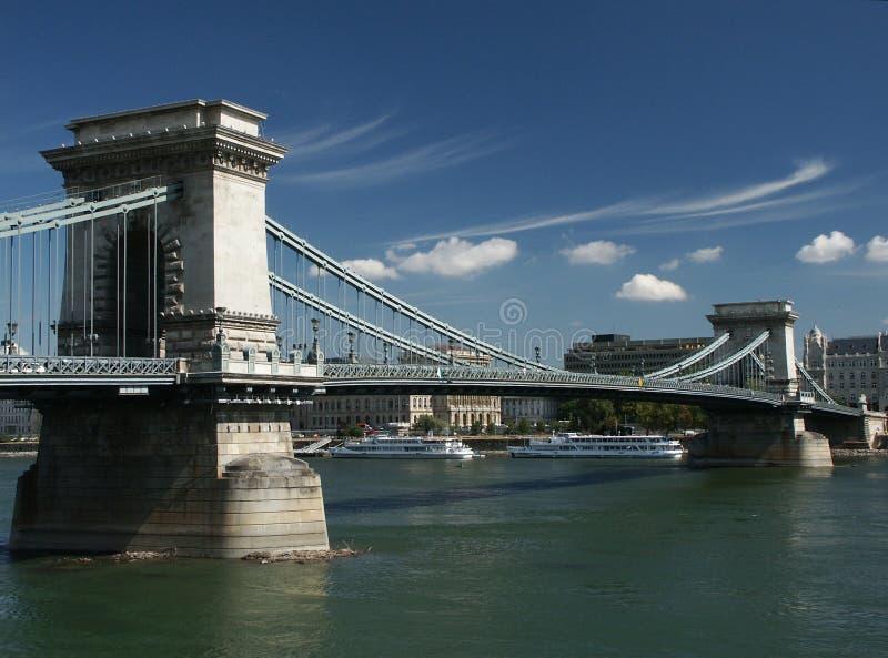 Puente de cadena en Budapest imagenes de archivo