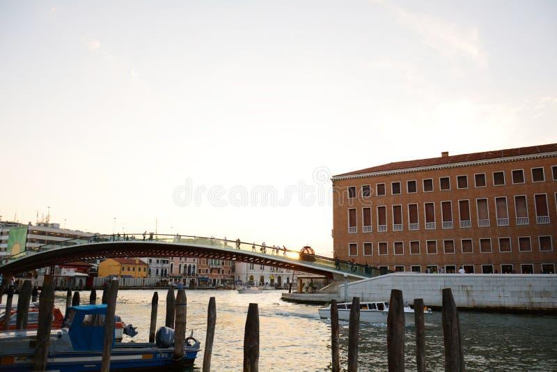 Puente de Calatrava, Venecia, Italia imagen de archivo libre de regalías
