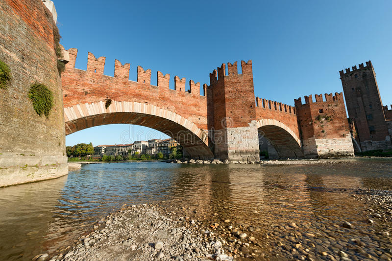 Puente de Castelvecchio - Verona Italy fotos de archivo libres de regalías