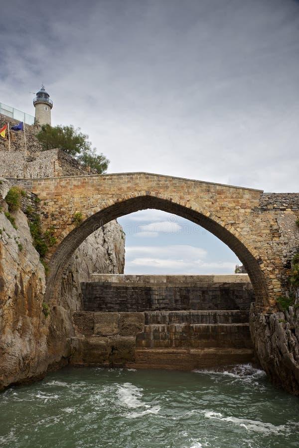 Puente de Castro-Urdiales imagen de archivo libre de regalías