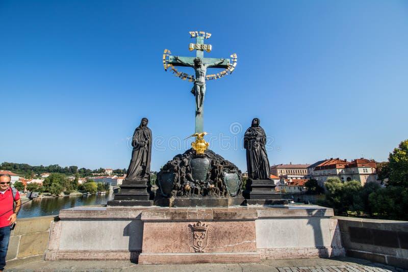 Puente de Charles en Praga, República Checa fotografía de archivo