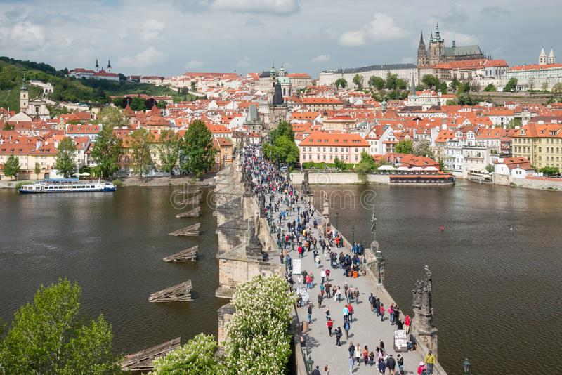 Puente de Charles en Praga, Rep?blica Checa fotos de archivo