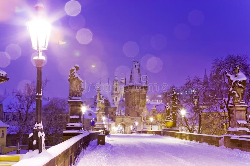Puente de Charles, poca ciudad, Praga (la UNESCO), República Checa foto de archivo
