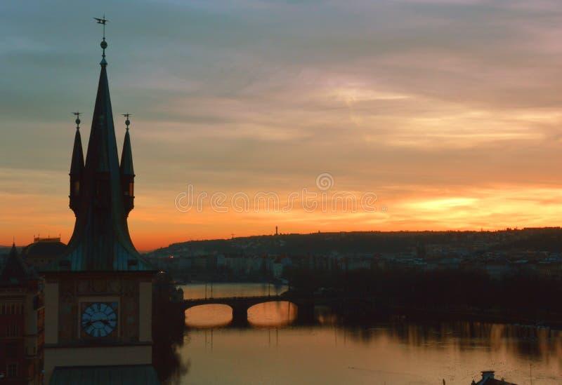 Puente de Charles de Praga foto de archivo