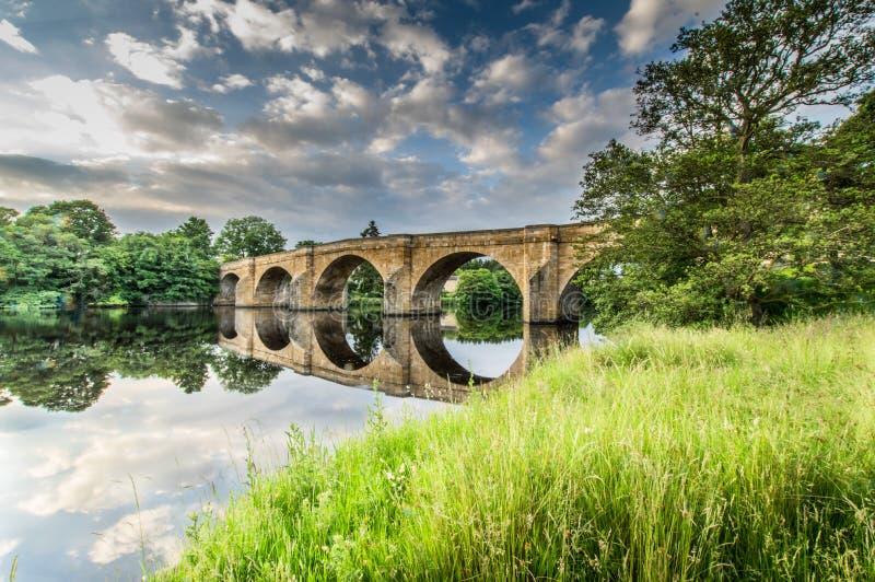 Puente de Chesters imagen de archivo libre de regalías