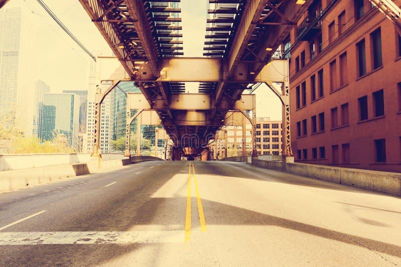 Puente de Chicago imagenes de archivo