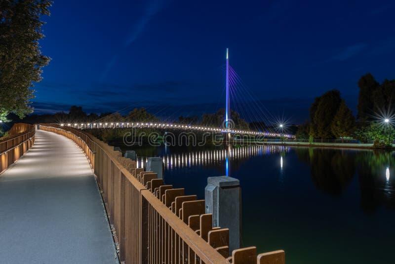 Puente de Christchurch, leyendo Berkshire Reino Unido fotografía de archivo