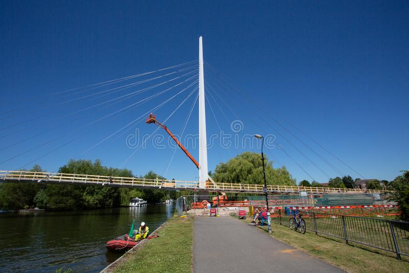 Puente de Christchurch sobre el Támesis imágenes de archivo libres de regalías