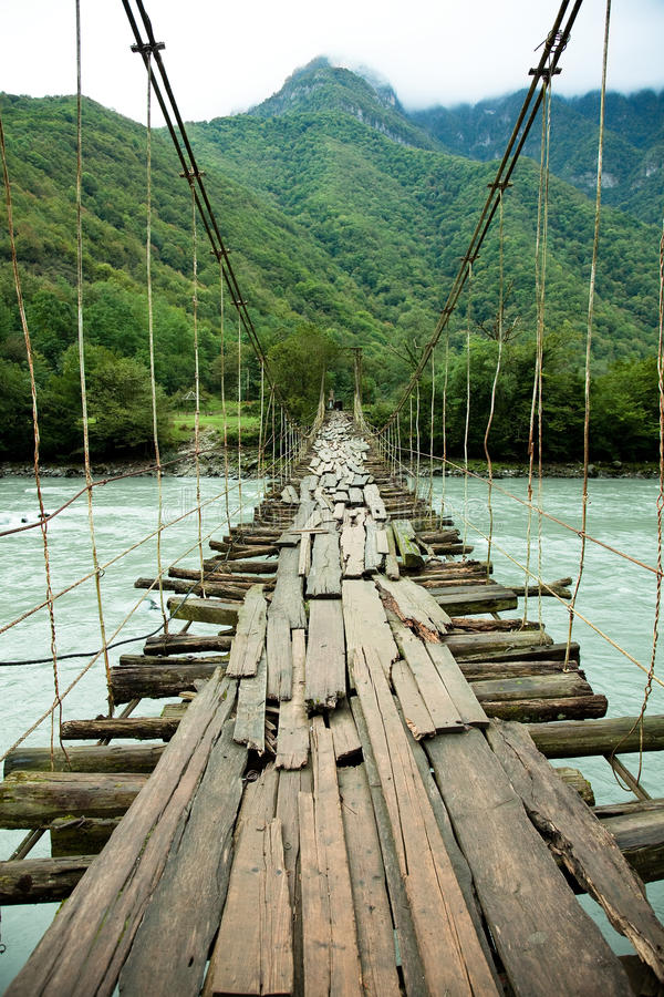 Puente de colgante imagenes de archivo